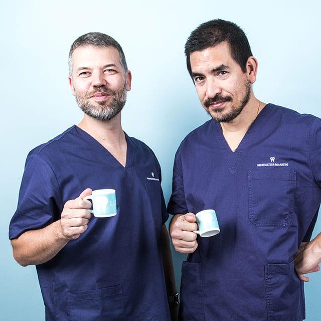 I Dottori Ludovico Martini e Davide Oberholtzer