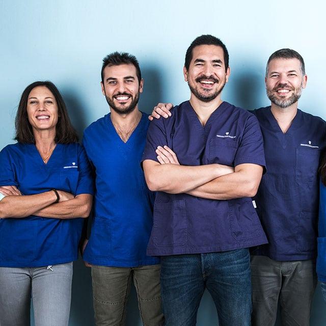 I medici e gli igienisti dentali dello studio