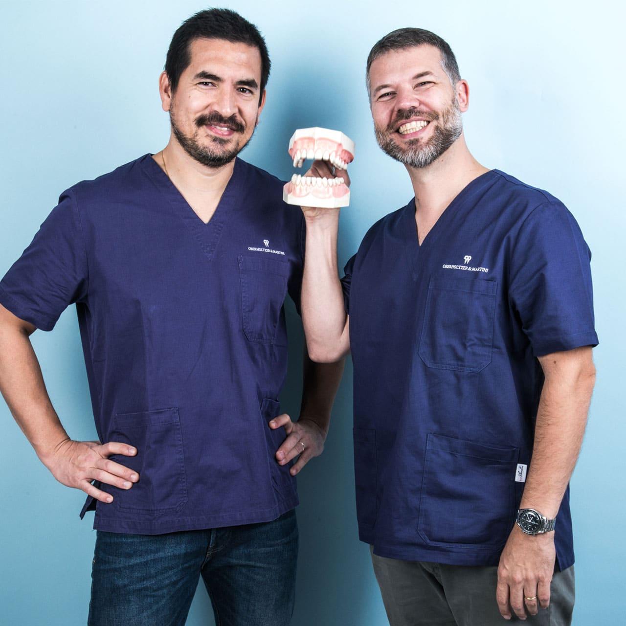 I soci dello Studio Dentistico a Vicenza Davide Oberholtzer e Ludovico Martini